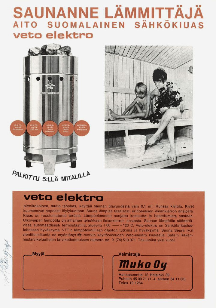 Old Veto electric heater - Our story - Old brochure from 60s